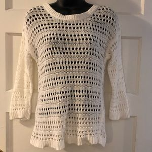 Old Navy White Knit Sweater